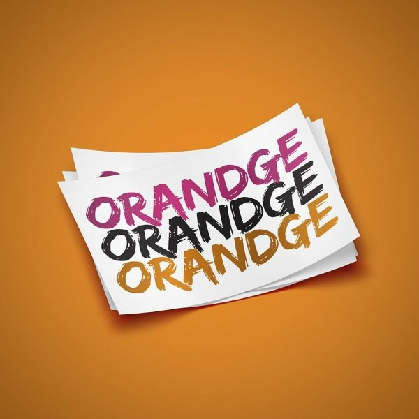 Orandge Sticker
